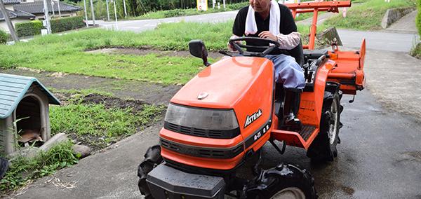 農業に必要な機械のひとつ